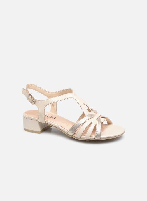 Sandales et nu-pieds Caprice Mezin Beige vue détail/paire