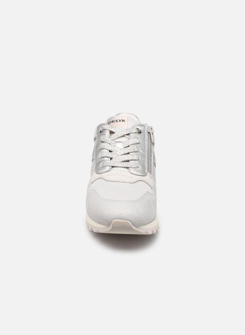 Sneaker Geox D TABELYA A D15AQA grau schuhe getragen