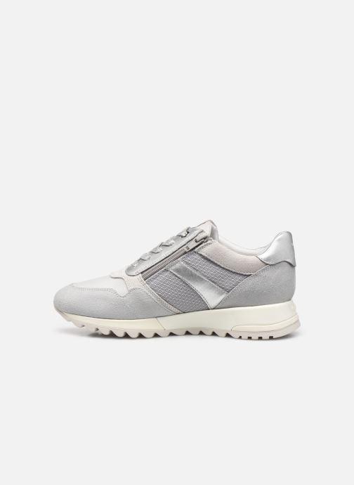 Sneaker Geox D TABELYA A D15AQA grau ansicht von vorne