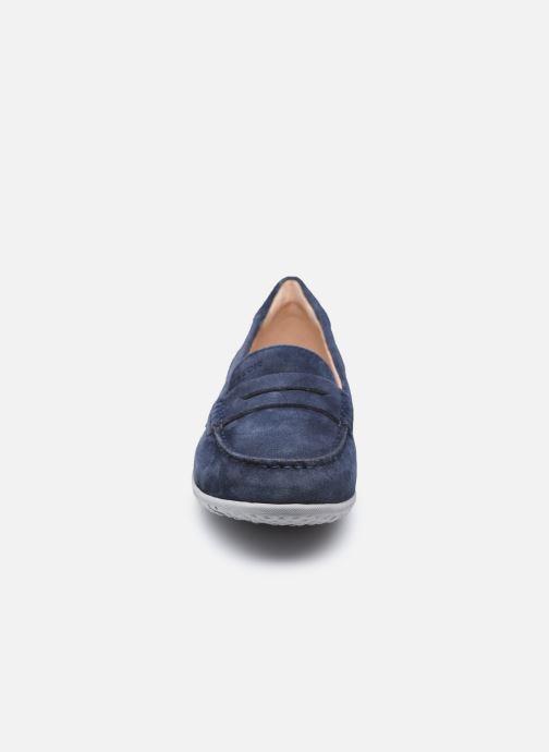 Slipper Geox D VEGA MOC A blau schuhe getragen