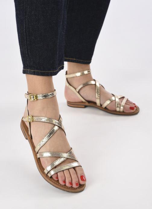 Sandales et nu-pieds Geox D SOZY S G Or et bronze vue bas / vue portée sac
