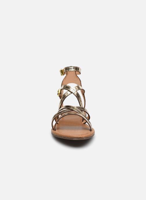 Sandales et nu-pieds Geox D SOZY S G Or et bronze vue portées chaussures