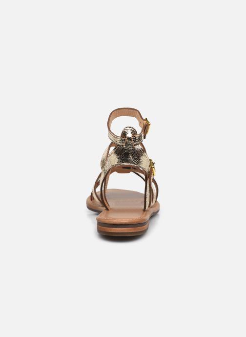 Sandales et nu-pieds Geox D SOZY S G Or et bronze vue droite