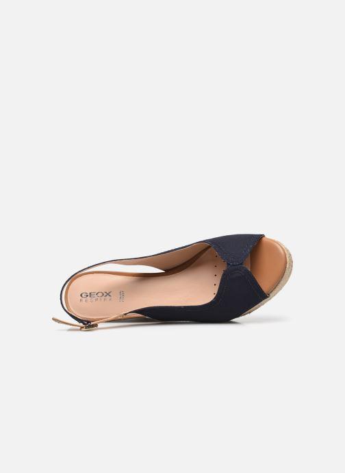 Sandales et nu-pieds Geox D SOLEIL D15N7A Bleu vue gauche