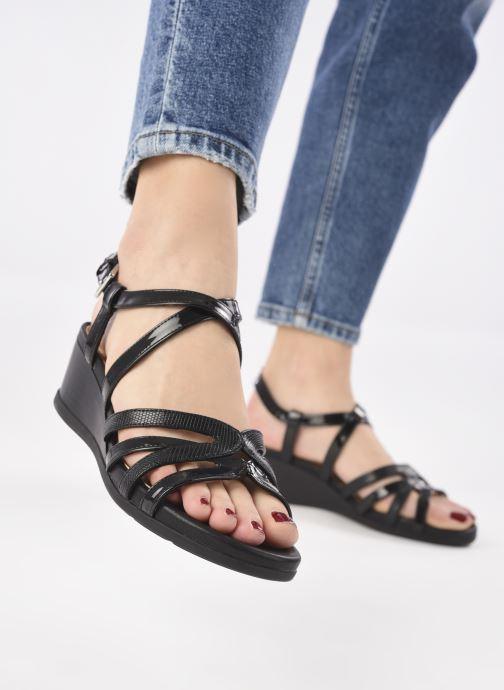 Sandales et nu-pieds Geox D MARYKARMEN B Noir vue bas / vue portée sac