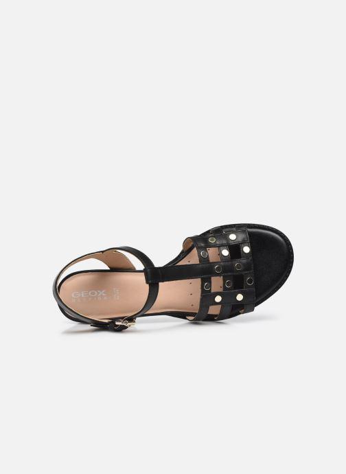 Sandali e scarpe aperte Geox D SOZY MID B Nero immagine sinistra