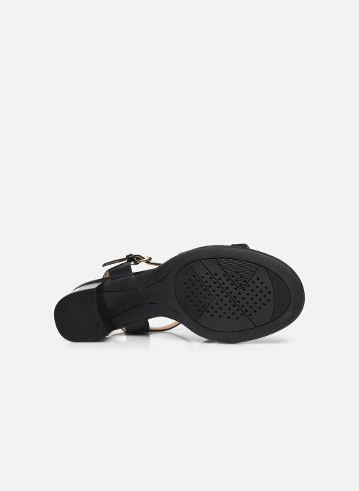 Sandali e scarpe aperte Geox D SOZY MID B Nero immagine dall'alto