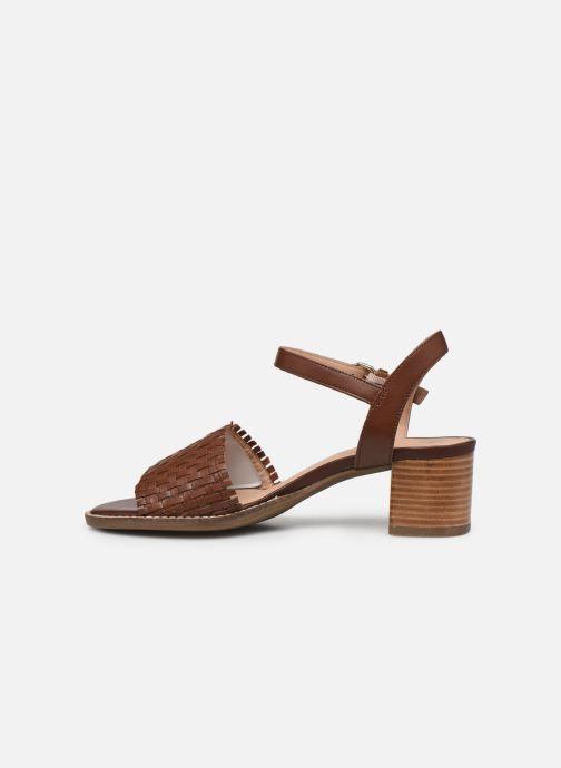 Sandali e scarpe aperte Geox D SOZY MID A Marrone immagine frontale
