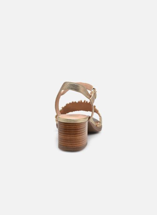 Sandali e scarpe aperte Geox D SOZY MID A Oro e bronzo immagine destra