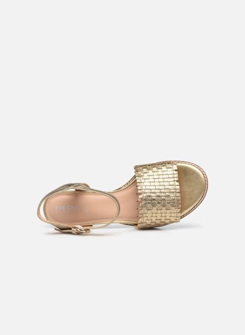 Sandali e scarpe aperte Geox D SOZY MID A Oro e bronzo immagine sinistra