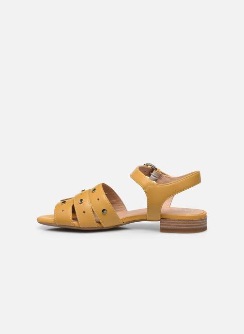 Sandali e scarpe aperte Geox D WISTREY SANDALO C Giallo immagine frontale