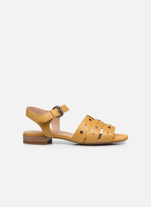 Sandali e scarpe aperte Geox D WISTREY SANDALO C Giallo immagine posteriore
