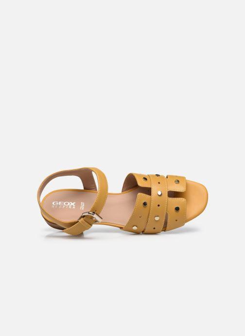 Sandali e scarpe aperte Geox D WISTREY SANDALO C Giallo immagine sinistra