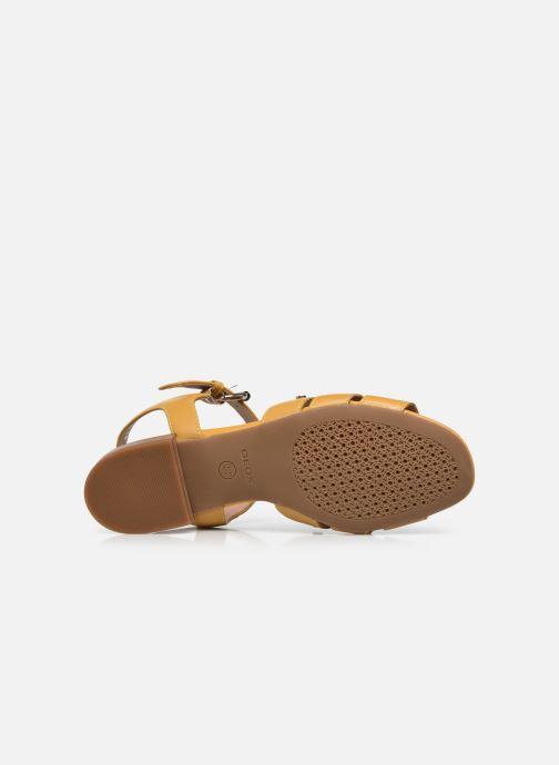 Sandali e scarpe aperte Geox D WISTREY SANDALO C Giallo immagine dall'alto
