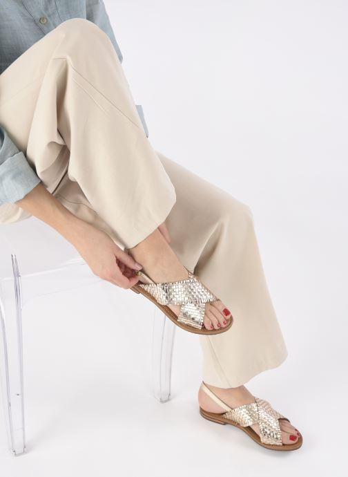 Sandalen Geox D SOZY S A gold/bronze ansicht von unten / tasche getragen