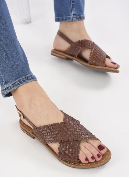 Sandali e scarpe aperte Geox D SOZY S A Marrone immagine dal basso