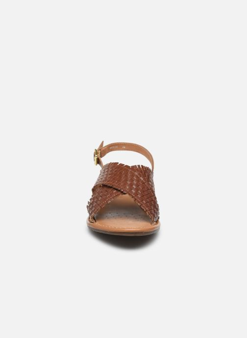 Sandali e scarpe aperte Geox D SOZY S A Marrone modello indossato