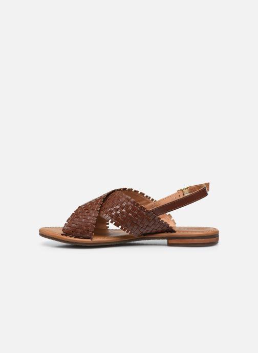 Sandali e scarpe aperte Geox D SOZY S A Marrone immagine frontale