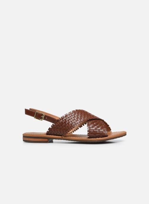 Sandali e scarpe aperte Geox D SOZY S A Marrone immagine posteriore