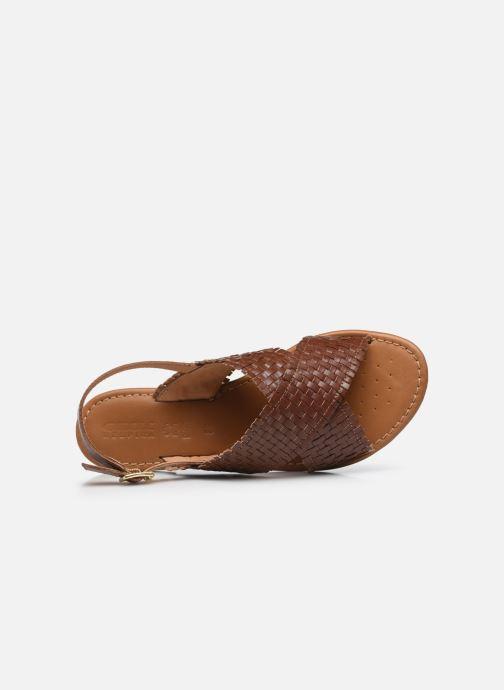 Sandali e scarpe aperte Geox D SOZY S A Marrone immagine sinistra