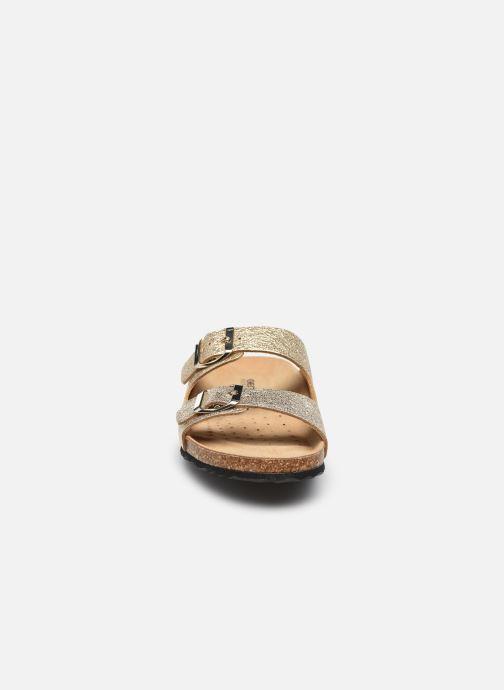Zoccoli Geox D BRIONIA A Oro e bronzo modello indossato