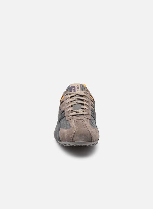 Sneaker Geox UOMO SNAKE K grau schuhe getragen