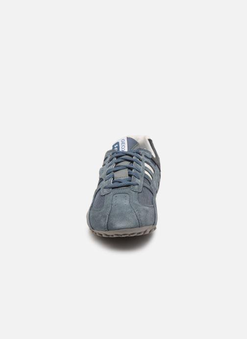 Baskets Geox UOMO SNAKE K Bleu vue portées chaussures