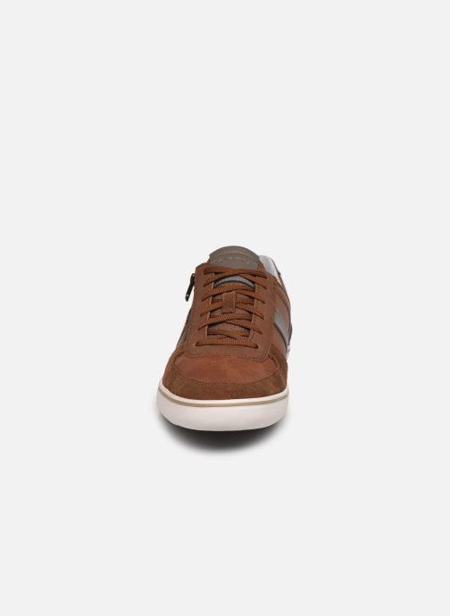 Baskets Geox U ELVER A Marron vue portées chaussures