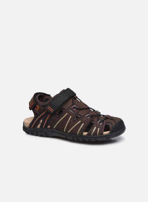 Sandales et nu-pieds Geox UOMO SANDAL STRADA A Marron vue détail/paire
