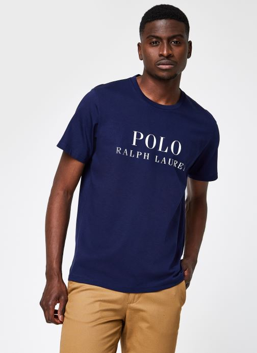 Vêtements Polo Ralph Lauren S/S Crew-Crew-Sleep Top Bleu vue détail/paire
