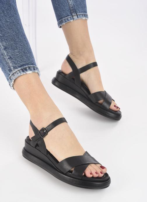 Sandalen Minelli F63 636 schwarz ansicht von unten / tasche getragen