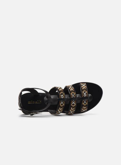 Sandalen Minelli F630025LIS Zwart links