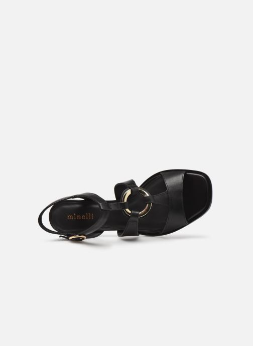 Sandalen Minelli F930004LIS Zwart links