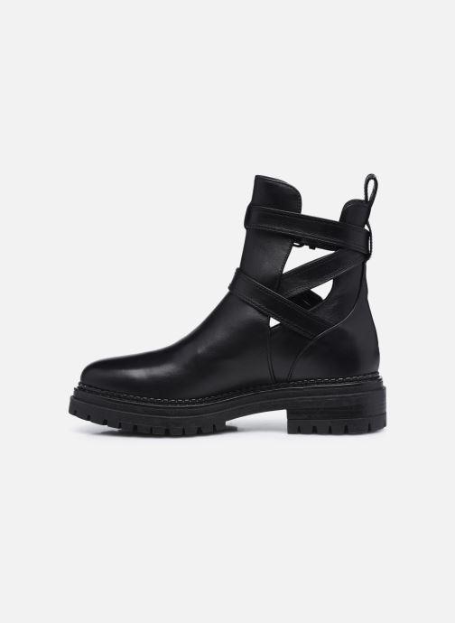 Boots en enkellaarsjes Minelli F60 741 Zwart voorkant