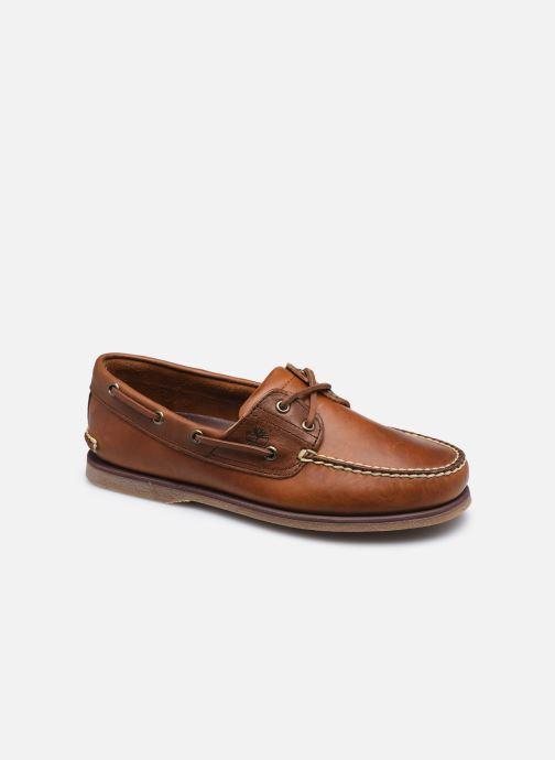 Chaussures à lacets Timberland Classic Boat Marron vue détail/paire