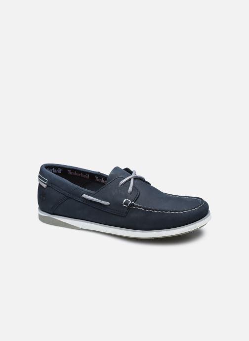 Chaussures à lacets Timberland Atlantis Break Boat Shoe BLACK IRIS Bleu vue détail/paire
