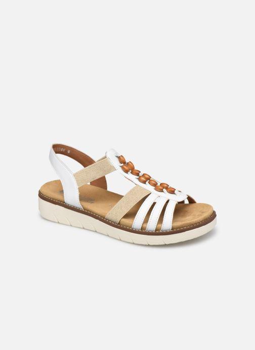 Sandales et nu-pieds Remonte Paola Blanc vue détail/paire