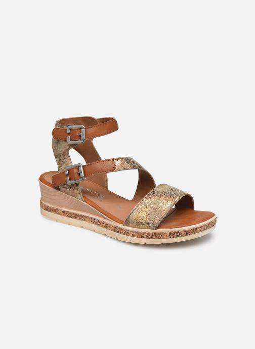 Sandales et nu-pieds Remonte Batik Marron vue détail/paire