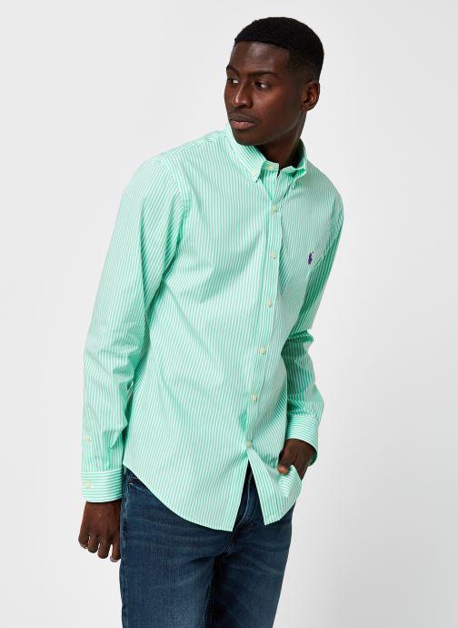 Vêtements Polo Ralph Lauren Chemise ML Slim Fit Stripes Pony Vert vue détail/paire