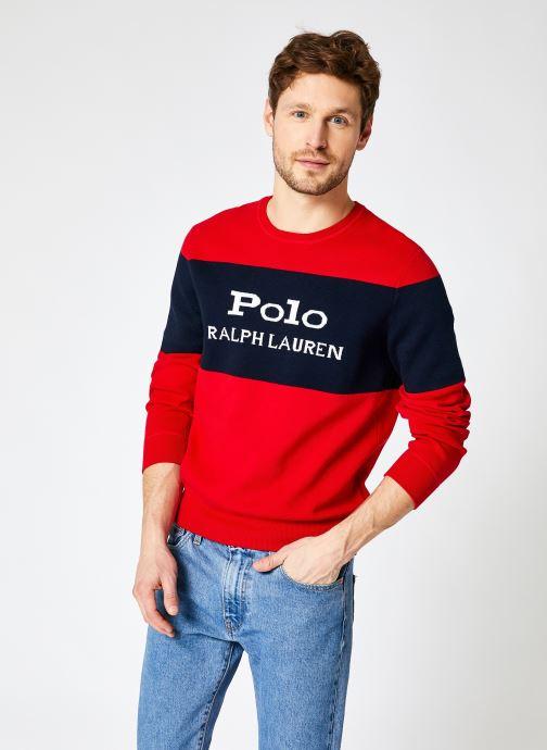 Vêtements Polo Ralph Lauren Sweatshirt Crewneck Polo Sport Pony Rouge vue détail/paire