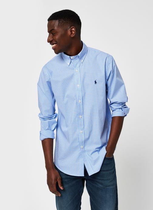 Vêtements Polo Ralph Lauren Chemise ML Check Pony Bleu vue détail/paire
