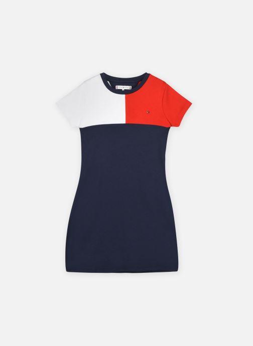 Vêtements Tommy Hilfiger Stripe Rib Dress S/S Bleu vue détail/paire