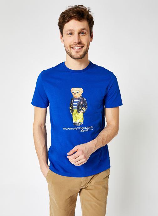 Kleding Polo Ralph Lauren Tee-Shirt MC Bear Blauw detail