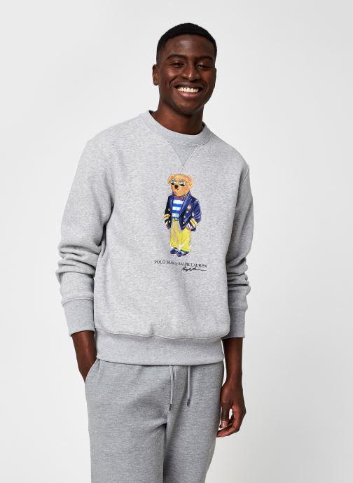 Vêtements Polo Ralph Lauren Sweatshirt ML Bear Gris vue détail/paire