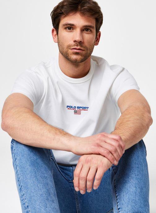 Kleding Polo Ralph Lauren Tee-Shirt MC Polo Sport Wit detail