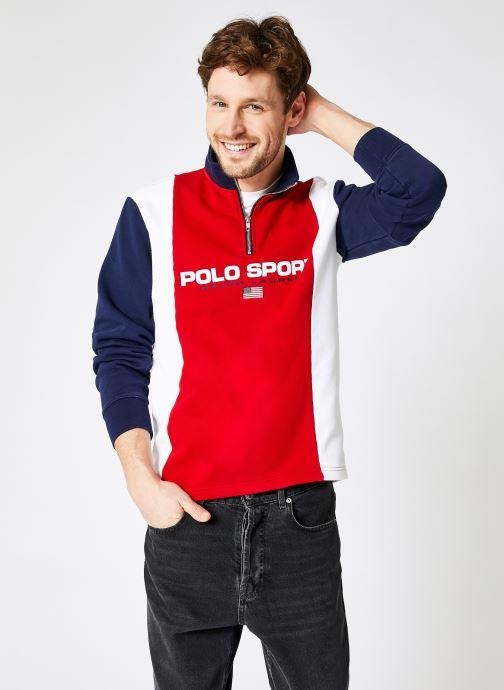 Vêtements Polo Ralph Lauren Sweatshirt Half Zip Polo Sport Multicolore vue détail/paire