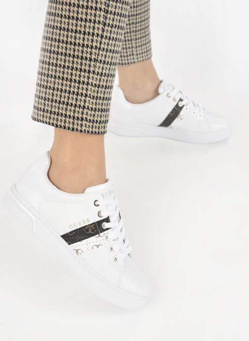 Sneakers Guess REEL Bianco immagine dal basso