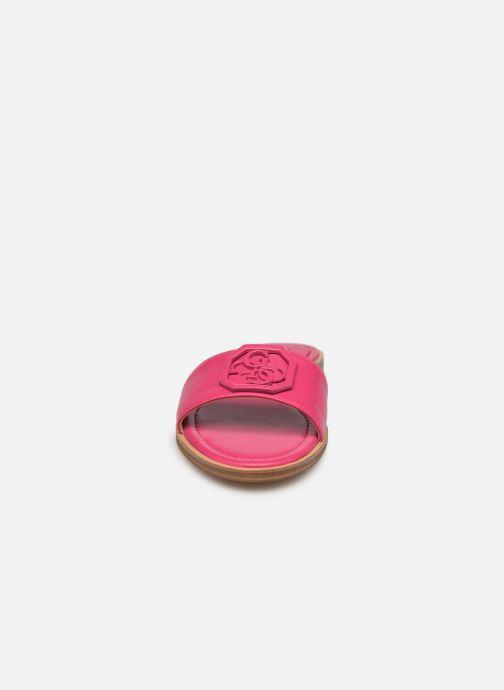 Clogs & Pantoletten Guess BOTALI rosa schuhe getragen