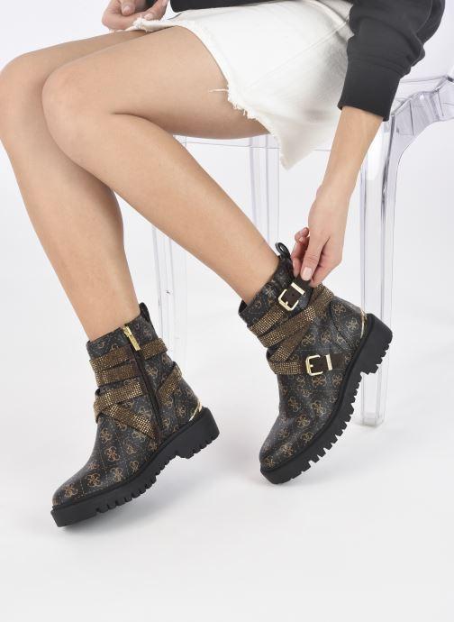 Bottines et boots Guess ORINIA Marron vue bas / vue portée sac