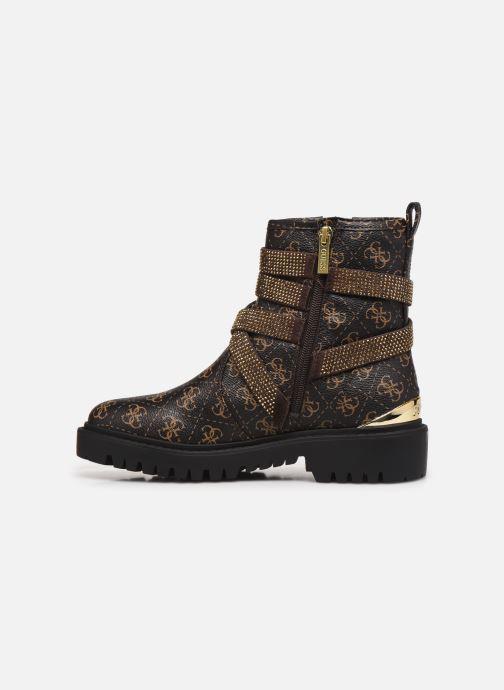 Boots en enkellaarsjes Guess ORINIA Bruin voorkant